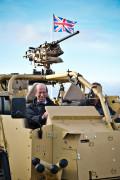 HRH Duke of Kent in the HMT400 Supacat Jackal