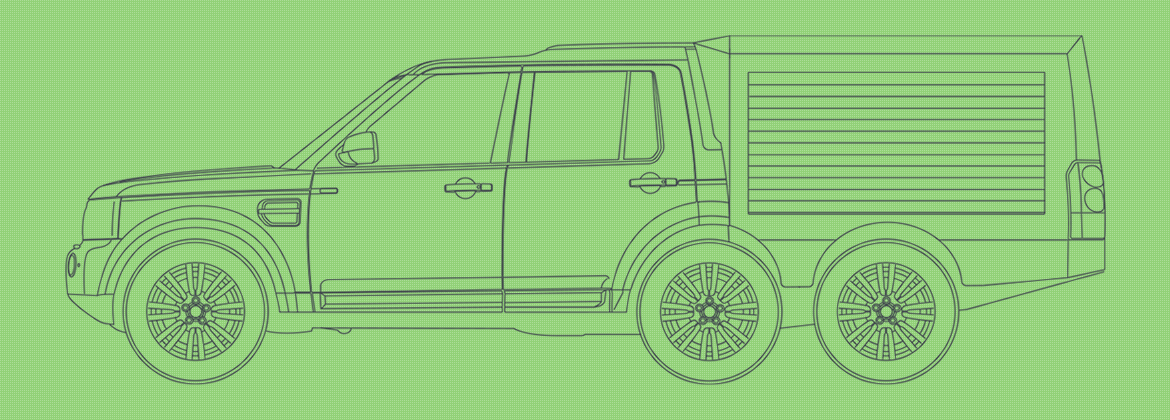 Line drawing of the SUV 600