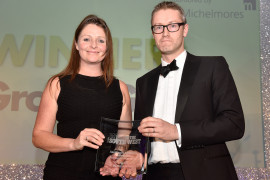 Lizzie Jones, Operations Director of SC Innovation, receives the award