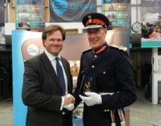 Lord Lieutenant of Devon presents Queens Award Presentation to Nick Ames of SC Group